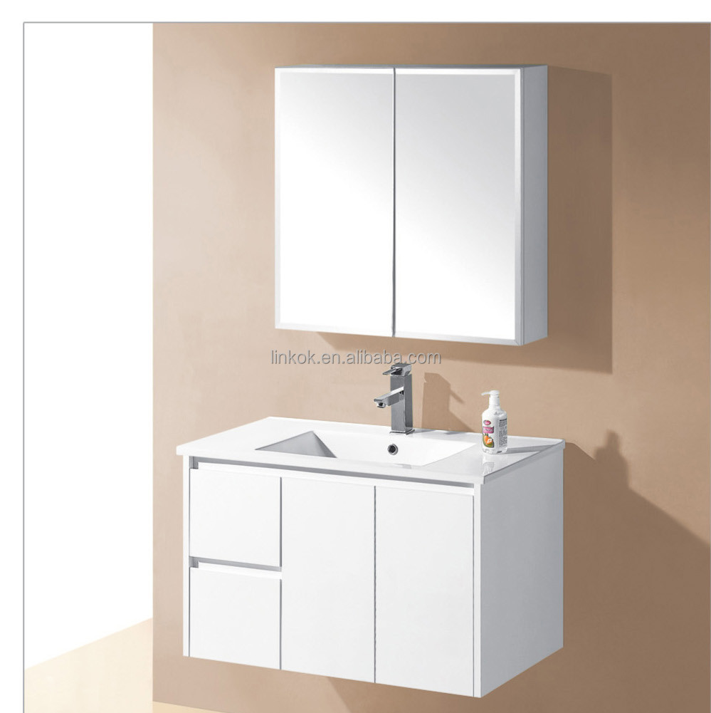 White marble bathroom unit bathroom vanity unit with marble top ceramic basin bathroom set