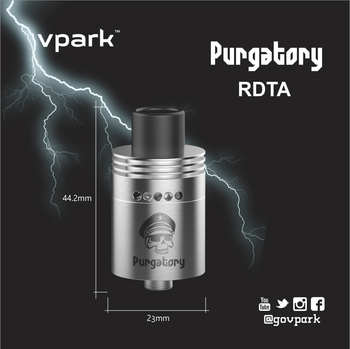 2016 ORIGINAL VPARK Limitless RDTA PURGATORY-STYLE RDTA ATOMIZER EASILY WIRE BUILDING BY HAND RDTA