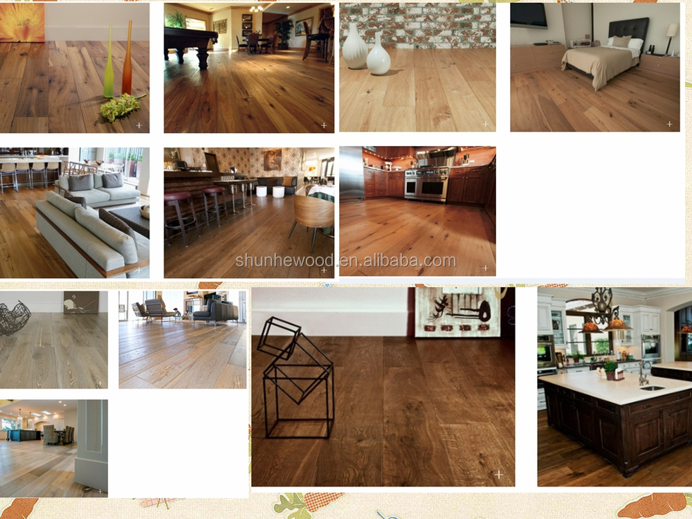 oak engineered wood flooring --black grain and brushed