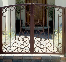 wrought iron gates /entrance iron gate/ galvanize gate