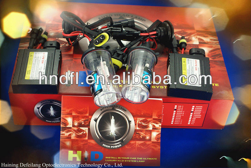 100% factory H13 high quality car motorcycle HID xenon lamp competitive price H1 H3 H4 H6 H7 H8 H9 H10 H11 H13 35W 55W 75W 100W