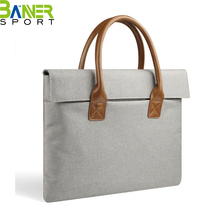 Classic design fabric laptop bag unisex office briefcase business leisure handlebag