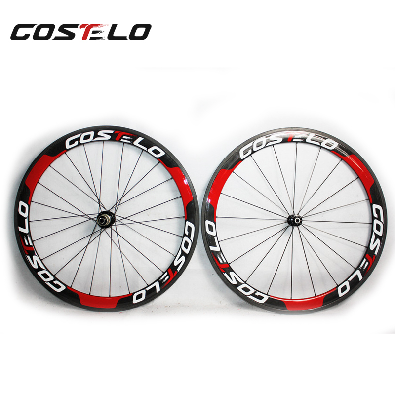2015 NEW model Costelo carbon road bicycle Wheelset C-50 /T-50 Clincher 3K weave wheels 50mm