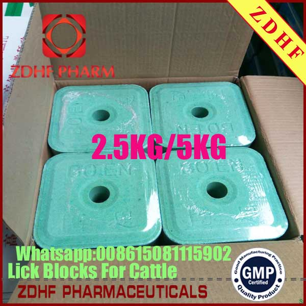 Cattle Sheep Salt Lick Nutrition Brick Stone With 2kg 5kg For Livestock Farm