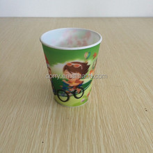 Cartoon magic change 3D lenticular 3d straw cup,sippy cups