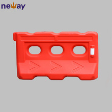 Traffic safety water filled plastic road barriers