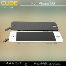 DHL LCD For iPhone 5 LCD Screen Digitizer Assembly Black /White color
