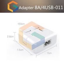 High quality multi port travel charger,mobile phone accessories,4 port usb travel charger