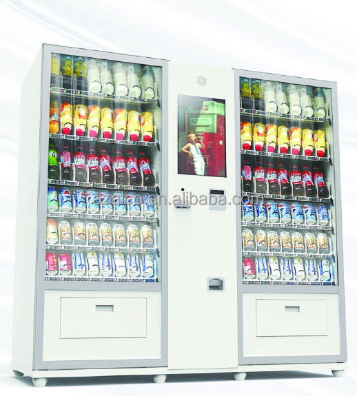 Hot food vending machine 22 inch Touch Screen LCD vending machine for bottled drink and snack