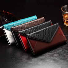 Colorful blank clutch bags flip Leather envelope wallet cover case for LG G4