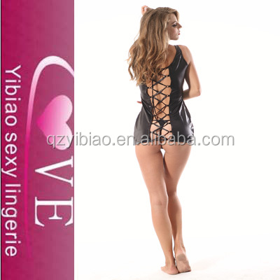 2014 Fashion Sexy Leather Body Suit