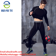 Custom athletic apparel Men's Compression Tights Running Sports wear