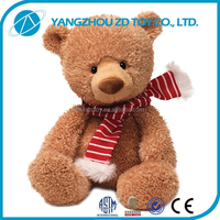 new style soft polyester oem christmas gift stuffed & plush bear toy