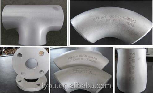 Aluminum 6061 1060 Pipe Fittings 90 Degree Elbow