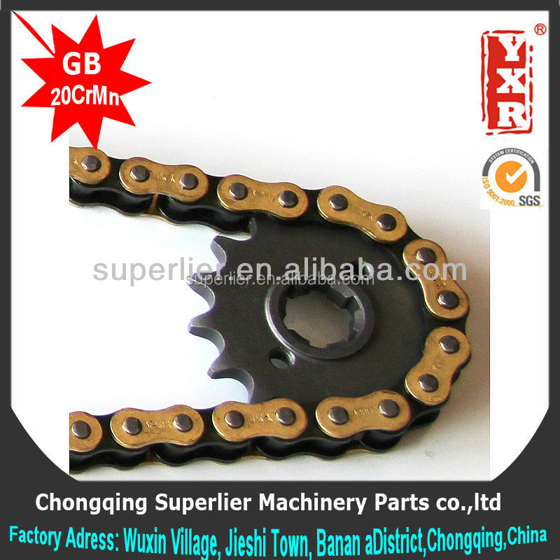 Professional produce parts for chinese scooter,NX150 15T sprocket,420 and 428 material of chain sprocket