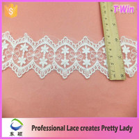 manufacturer hot lace/fashion fashion flower motif border lace/wholesale new made designer lace wedding dress