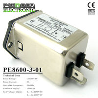 3A Power Entry Modules General purpose Low Pass Mains Switch PE8600,power coil RF filter