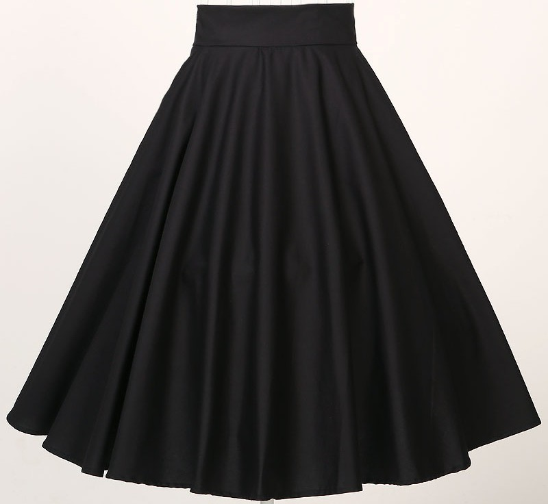 Wholesale Dropship Womens Black Flared Skirts High Waisted - Buy ...