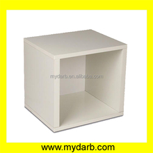 Mydarb wooden white painted window display cube