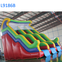 7mH high quality PVC inflatable slide giant inflatable water slide for adults