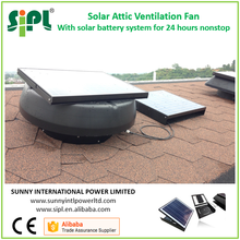 SUNNY FAN 14 Inch 25W Solar Attic Fan with Battery System Powerful DC Ventilation House Air Fans