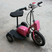 Stand up electric tricycle for disabled with LED front light
