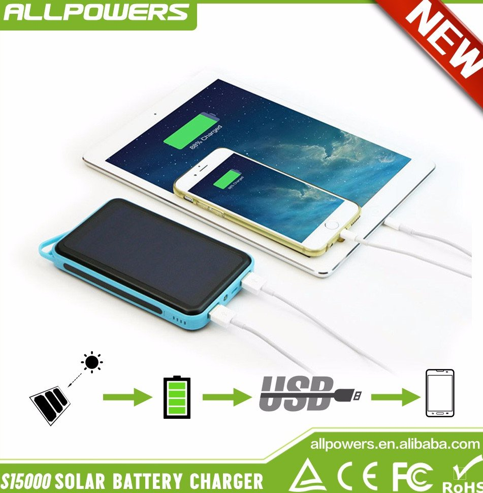 Allpowers Outdoor Trendy Portable Solar Chargers 15000mAh Solar Backup Power Bank for iphone HTC Samsung ipad. Add to My Cart