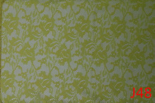 Lime Flower 100 Spun Polyester Voile Fabric