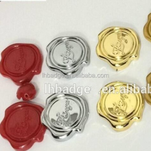 3D metal embossed aluminum wax seal sticker