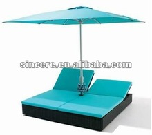 rattan lounge bed / patio ease bed / garden bed