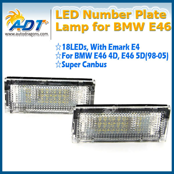 Racing Dash LED License Plate Lamp for bmw E46 License Plate Lamp