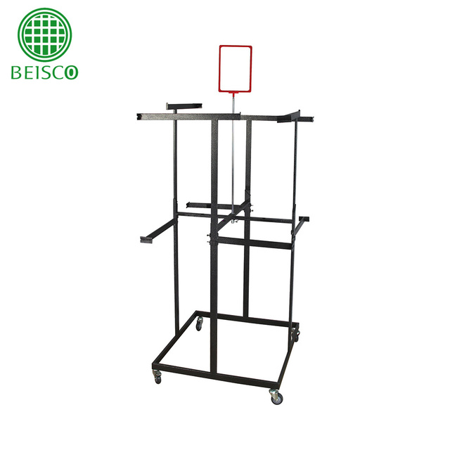 commercial stainless clean linen trolley, all kinds cloth hanger,hot sale cloth rack