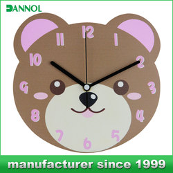 BABAY birthday gifts wall clock animal designs wall sticker