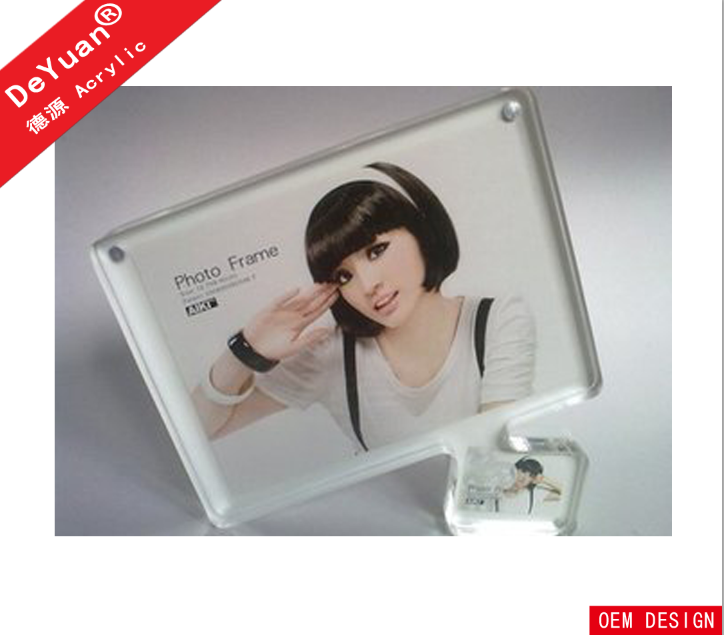 Large size digital clear acrylic sixy girl / sexy funia photo frame