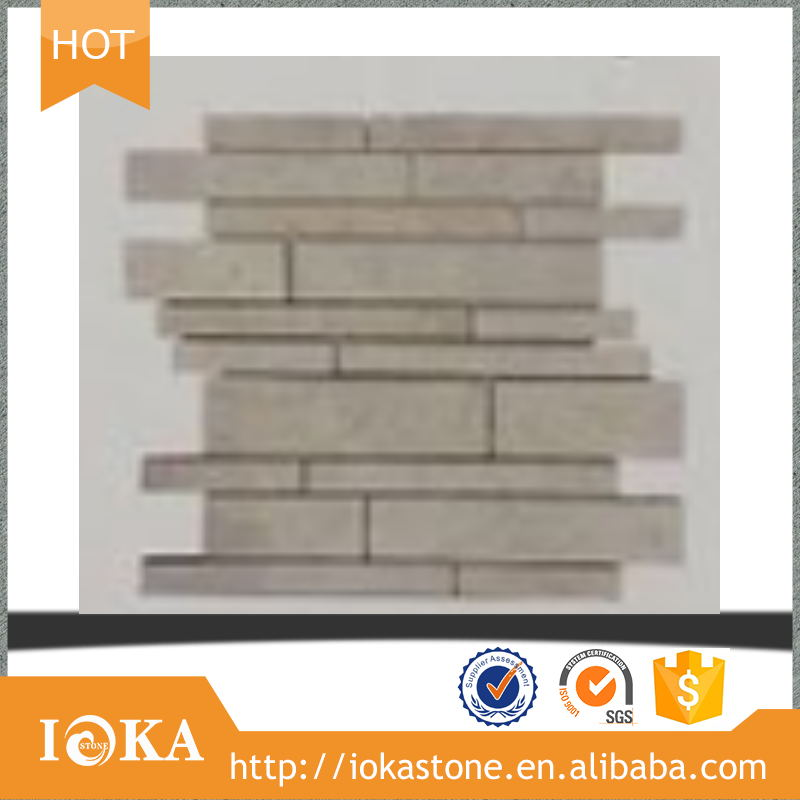 cheap natural Grey Marble Random Brick Marble Mosaic floor tile Wall decoration,bathroom,floor,hotel,backsplash, interior