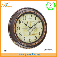 2015 New Plastic Antique Wall Clock 18inch
