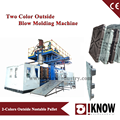 Two color outside plastic pallet blow molding machine