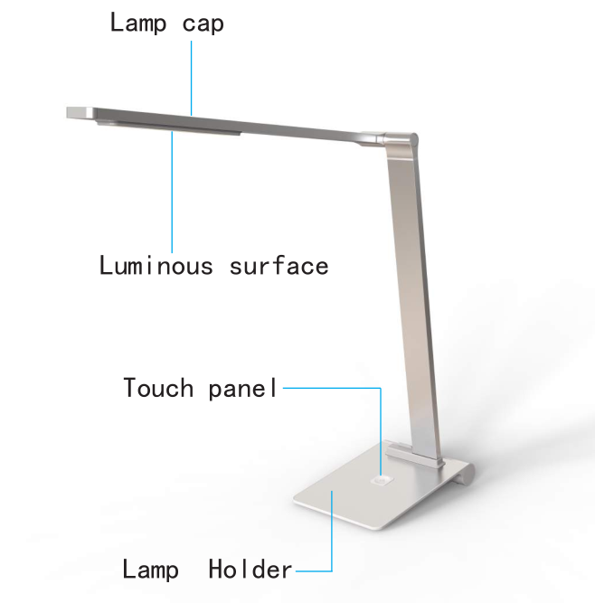 New Products saving energy touch control LED desk lamp for indoor using
