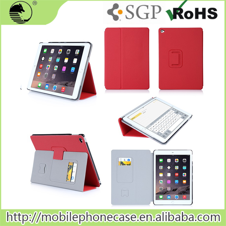 For Apple ipad 6 Colored Tablet Cover Thin Wallet Flip Stylish Tablet Case For Apple iPad Air 2