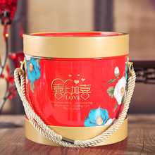 High quality large capacity metal tinplate material round cookies biscuit tin box