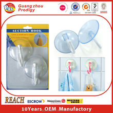 Plastic PVC suction hook suction cups with clip
