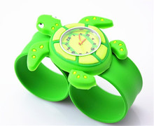 Fancy silicon rubber bracelet watch for child watch