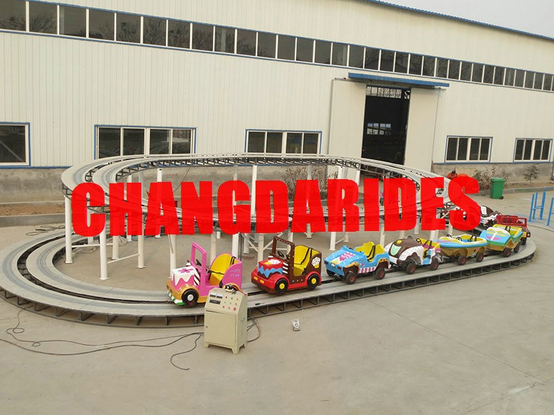 Attractive playground equipments kiddy rides backyard roller coasters for sale