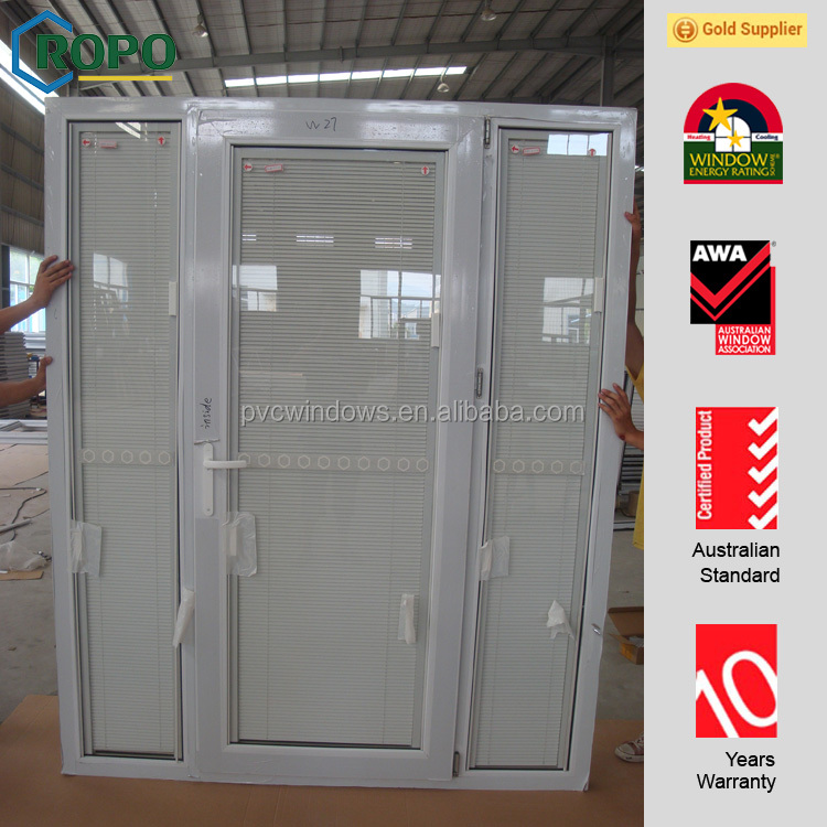 Factory price Alibaba UPVC frame used exterior french doors for house