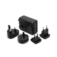 super fast family sized ce universal travel adapter with usb charger station