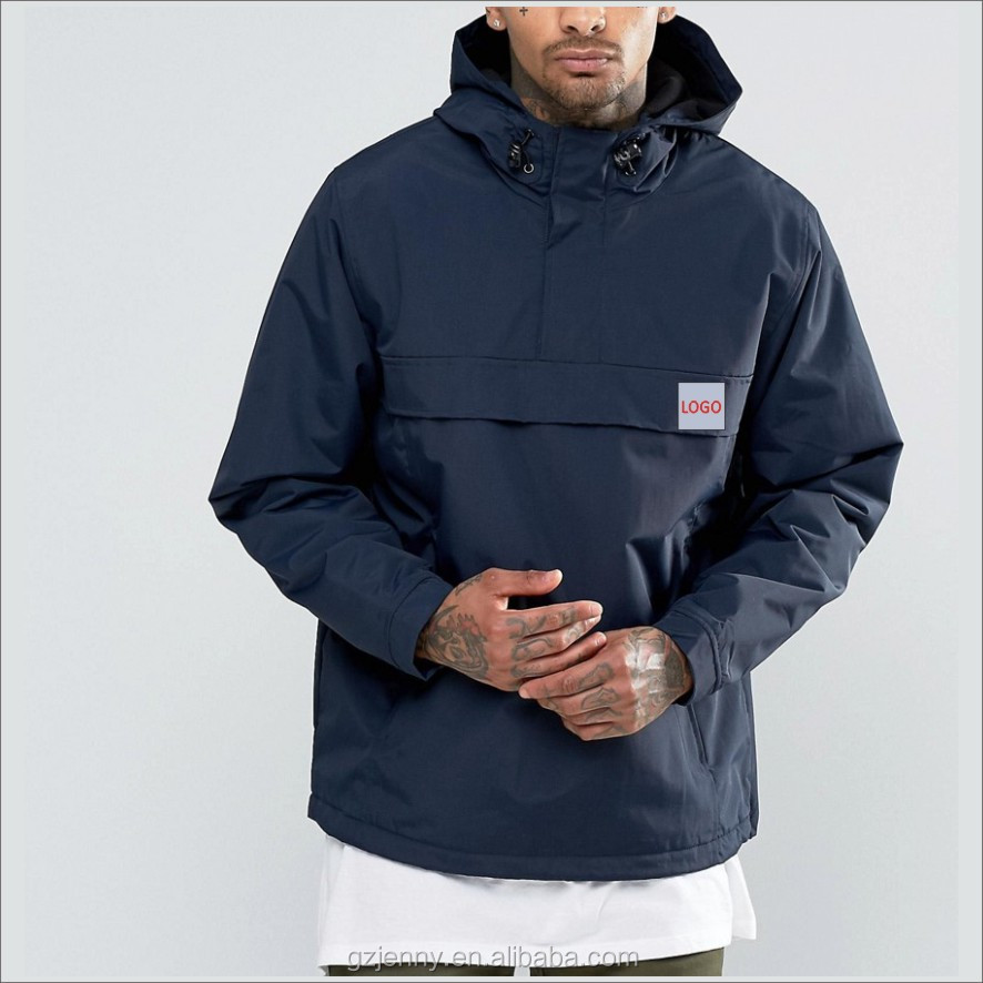 Custom Thick Thermal Pullover Style Man Outdoor Jacket With Hood