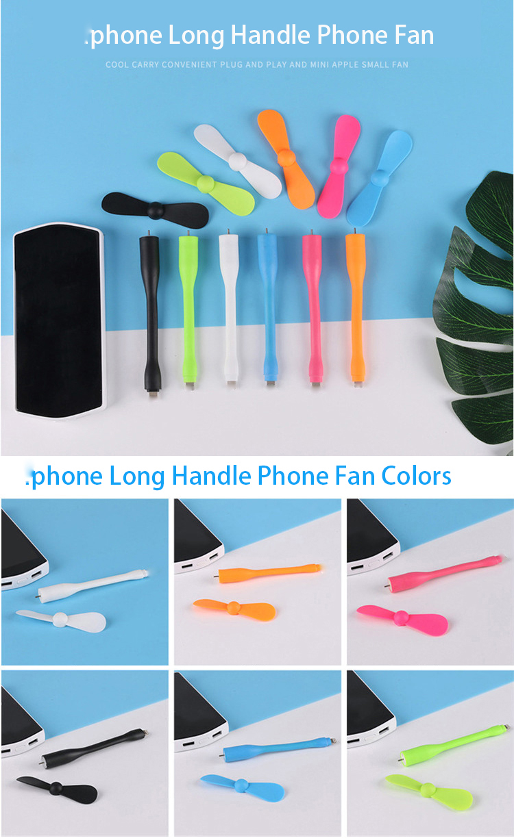 Factory wholesale portable  extra long phone fan with custom logo