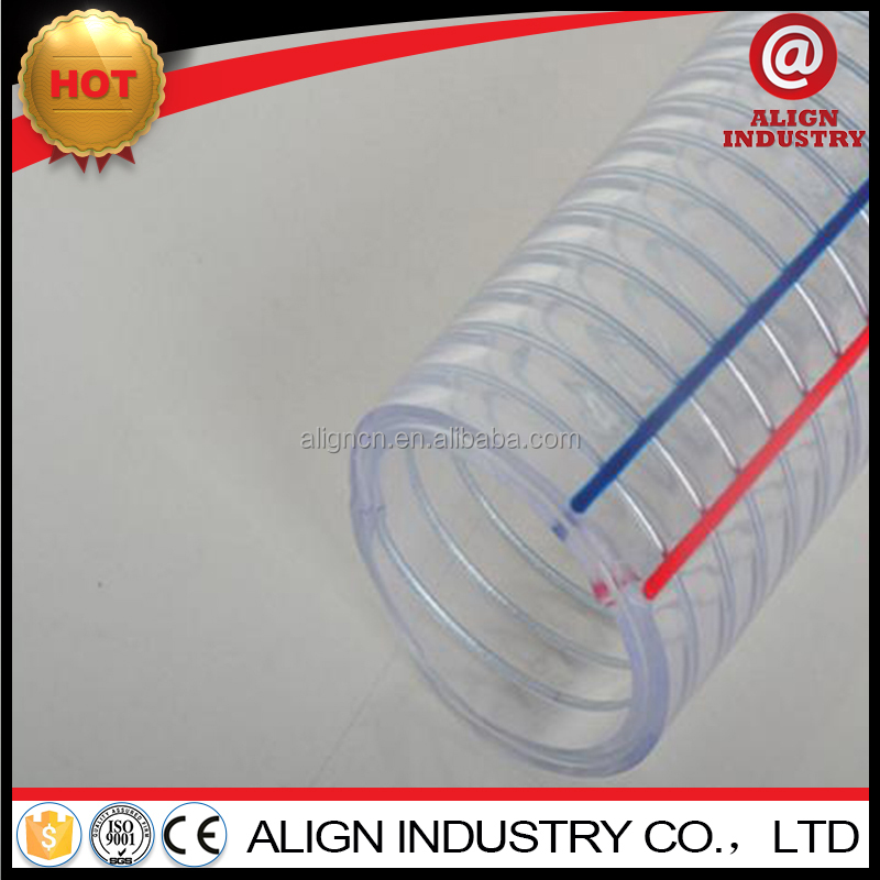 "2-1/2"" no toxic china factory PVC fiber/steel wire /sprial reinforced hose/ pipe"