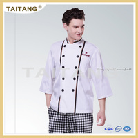 2018 Top level hot selling hotel kitchen white chef uniforms