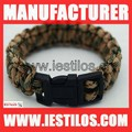 personalized military paracord survival bracelet